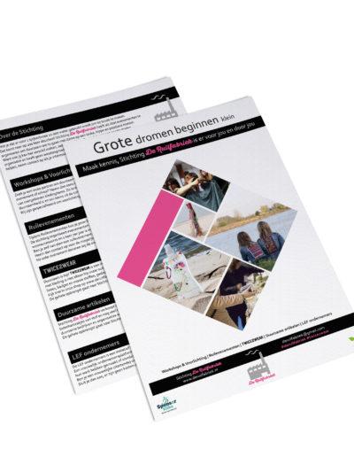 Folder ontwerp in opdracht van de Ruilfabriek