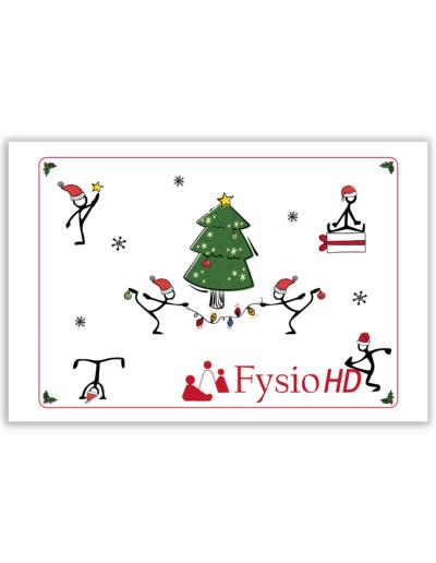 Kerstkaart ontwerp in opdracht van Fysio HD