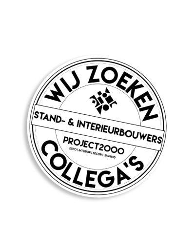 Sticker ontwerp in opdracht van Project 2000