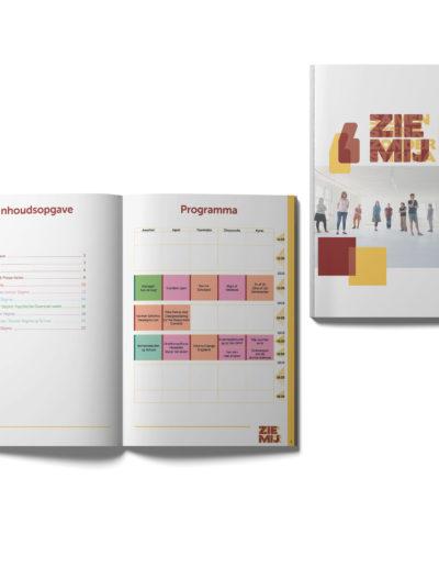 Folder ontwerp in opdracht van Samen Sterk zonder Stigma